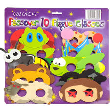 passover masks 10 plagues passover gifts judaica passover 10 plague mask glasses