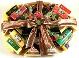 Meat And Cheese Gift Baskets Buy A Finer Cut Deluxe Sausage And Cheese Gift Basket Gourmet
