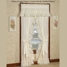 Burlap Ruffled Curtains Trendy Inspiration Ideas Cream Ruffle Curtains Contemporary