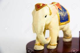 thai elephant color white resin for home decor thai souvenir