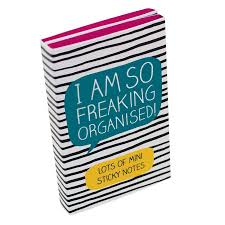 freaking organised sticky notes available from flamingo gifts