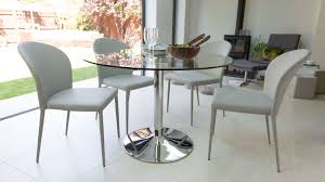 fancy modern round glass dining table 46 for interior designing