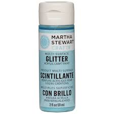 martha stewart crafts glitter acrylic paint
