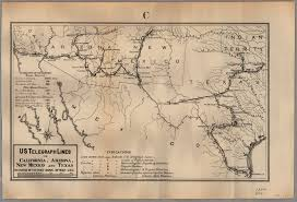 Arizona California Map by U S Telegraph Lines In California Arizona New Mexico And Texas