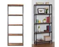 One Step Ahead Bookshelf Ikea Hack Wood And Metal Bookshelf Real Happy Space