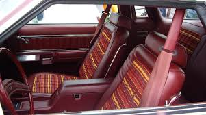 Classic Ford Truck Seat Covers - 1979 ford thunderbird with multicolor striped cloth bucket seats