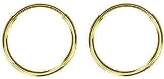 gold sleeper earrings golden choice 14k solid gold 10mm sleeper hoops earrings
