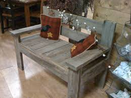Boot Bench by Rustic Barnwood Benches Bootbench Hinged Seat Storage Bench