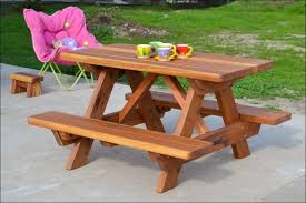 Build A Picnic Table Cheap by Exteriors Wood Picnic Table With Umbrella Hole Resin Picnic