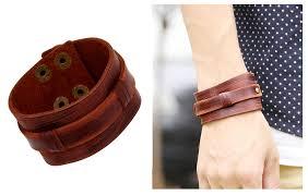 leather bracelet cuff women images Pk0056 retro wide leather cuff bracelet man and women brown jpg
