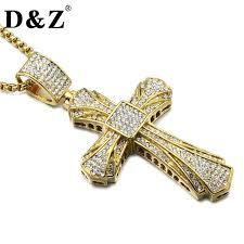 christian jewelry store aliexpress buy d z hiphop rhinestone cross pendant