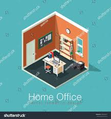 Home Office Concept Home Office Concept Isometric Vector Illustration Stock Vector