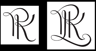 three letter monogram artistic monograms