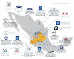 Mexico Resorts Map by Mexico U0027s Automotive Oem Landscape