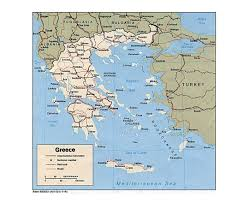 Map Of Greece by Largest Cities Map Of Greece And Greece Cities Population