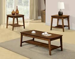 transitional style coffee table hattie transitional style medium oak finish 3pc coffee table set