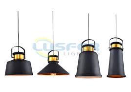 Metal Pendant Light Fixtures Modern Industrial Black And Copper Pendant Ceiling Light Fixtures