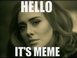 Hello Meme - jan koval祗k on twitter adele hello adele meme adelememe