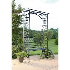 metal garden arbor with bench home outdoor decoration