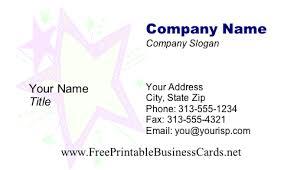 kid star business card