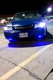 04 impala led tail lights 2004 chevy impala blue led w halo projector youtube