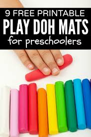 free printable shape playdough mats 9 free printable play doh learning mats for kids