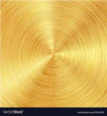 brushed gold background with polished brushed gold surface vector image