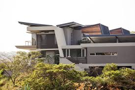 architecture a big luxury house with beautiful nature landscape