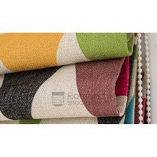 Flat Roman Shades - multi color linen cotton flat roman shades