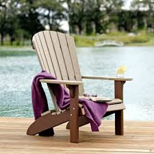 Poly Lumber Outdoor Furniture Amish Poly Wood Fan Back Adirondack Chair Leisure Lawns