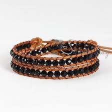 double bead bracelet images Double cotton cord crystal beaded bracelets jewellery wholesale jpg