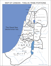 A New Map Of Jewish by Map Of Canaan Twelve Tribe Portions Bible History Online