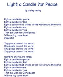 light a candle for peace lyrics downloads sing peace around the world