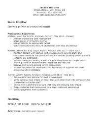 Waitress Resume Template by 15 Restaurant Hostess Resume Sle And Template Throughout
