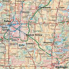 Tulsa Map Oklahoma Recreation Map U2014 Benchmark Maps