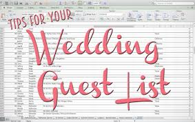 Wedding Invitation Excel Template Tips For Your Wedding Guest List The Yes