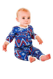 navy and fair isle baby onesie the nordic baby pajamas