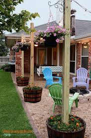 post to hang string lights 30 easy diy backyard projects ideas diy patio patios and texas