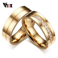 aliexpress buy vnox 2016 new wedding rings for women vnox 1 pair wedding rings for women men promise band