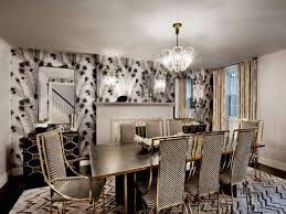 black and white dining chairs hollywood regency room dhd