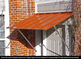 awnings austin austin standing seam door or window awning better home