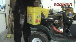 Homemade Garden Box by Adding Weight To Garden Tractor Diy Weight Box Youtube