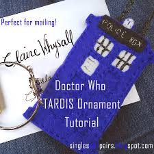 singles and pairs craft tutorial felt tardis ornament