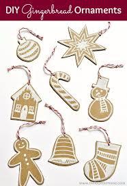 diy cardboard gingerbread ornaments