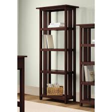 donnieann ferndale espresso open bookcase 353858 the home depot
