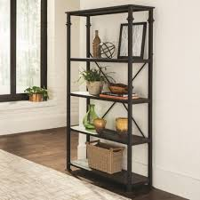 Four Shelf Bookcase 8014 Industrial Four Shelf Bookcase Silvermoon Furniture