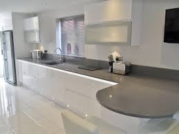 another customer design a high gloss white kitchen with microwave