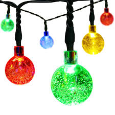 outdoor charming christmas solar globe string lights crystal