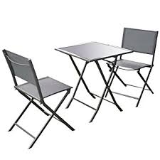 Folding Patio Chair by Amazon Com Giantex 3 Pcs Bistro Set Garden Backyard Table Chairs