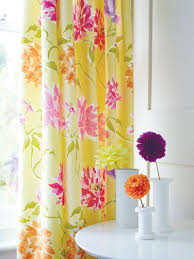 Striped Yellow Curtains Yellow U0026 Pink Curtains Set Capri Floral Curtains At Bedeck Home